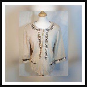 Bob Mackie  Wearable Art SZ 1X  Zip Jacket
